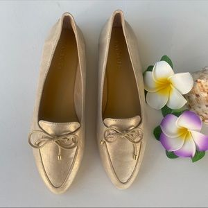 TALBOTS FRANCESCA BOW-FRONT DRIVING LOAFERS